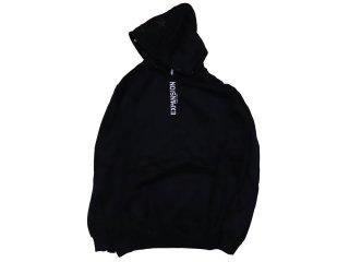 EXPANSION LOGO HOODIE BLACK<BR>エクスパンション ロゴ フーディー ブラック