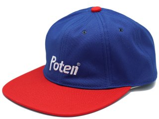 POTEN TEAM CAP RED/BLUE<BR>ポテン チームキャップ レッド ブルー