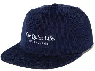 THE QUIET LIFE SERIF CORD POLO HAT STONE<BR>クワイエットライフ セリフコード ポロハット ネイビー