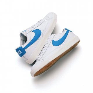 NIKE BLAZER LOW LEATHER WHITE/LASER BLUE