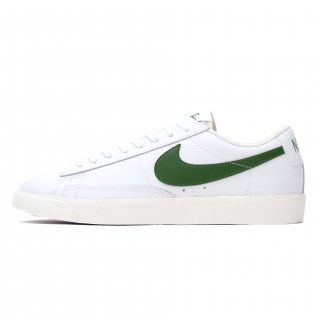 NIKE BLAZER LOW LEATHER WHITE/FOREST GREEN<BR>ナイキ ブレザー ロウ レザー ホワイト/フォレストグリーン