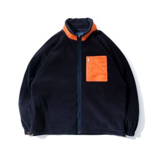 KEBOZ PORLATEC FLEECE WIDE JACKET NAVY/ORANGE