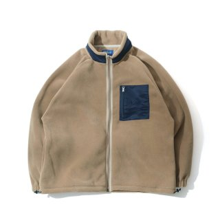 KEBOZ PORLATEC FLEECE WIDE JACKET BEIGE/NAVY