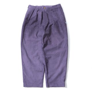 KEBOZ CORDUROY WIDE TAPERED PANTS PURPLE