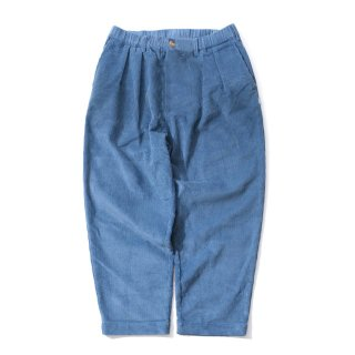 KEBOZ CORDUROY WIDE TAPERED PANTS BLUE