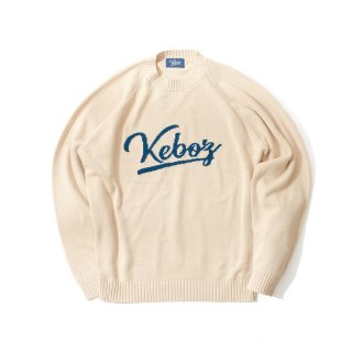 KEBOZ COTTON KNIT SWEATER CREAM