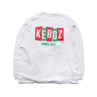 KEBOZ BS HEAVY WEIGHT L/S TEE WHITE