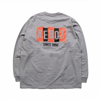 KEBOZ BS HEAVY WEIGHT L/S TEE ASH