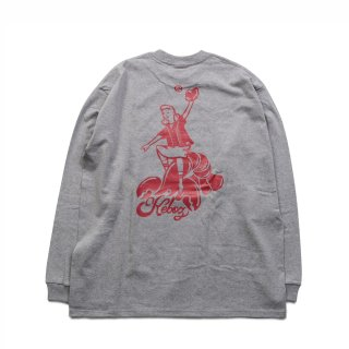 KEBOZ KLB HEAVY WEIGHT L/S TEE ASH