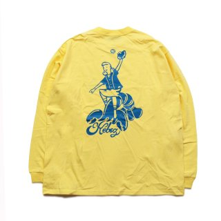 KEBOZ KLB HEAVY WEIGHT L/S TEE LEMON