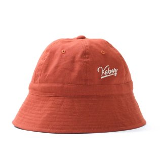 KEBOZ LINEN HAT DARK ORANGE