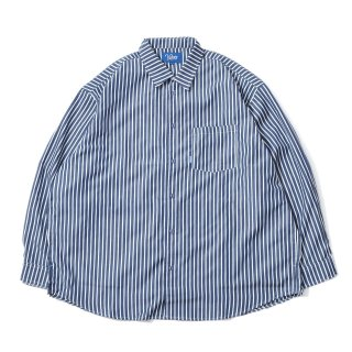 KEBOZ STRIPED BIG SHIRTS NAVY