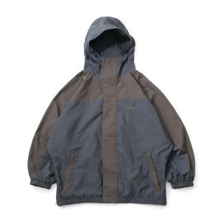 KEBOZ BC HOODED TRACK JACKET OLIVE BLUE GREY
