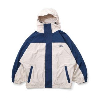 KEBOZ BC HOODED TRACK JACKET NAVY CREAM