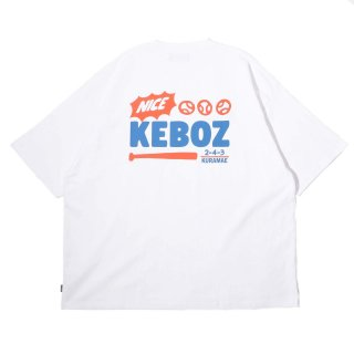 KEBOZ KRG LOGO S/S TEE WHITE