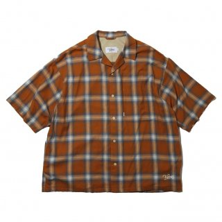 KEBOZ x FREAK'S STORE SPECIAL OMBRE CHECK SHIRTS SHORT SLEEVE MUSTARD