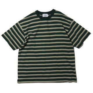 KEBOZ x FREAK'S STORE SPECIAL BORDER  SHORT SLEEVE TEE OLIVE
