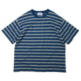 KEBOZ x FREAK'S STORE SPECIAL BORDER  SHORT SLEEVE BLUE