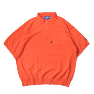 KEBOZ HALF ZIP KNIT POLO ORANGE