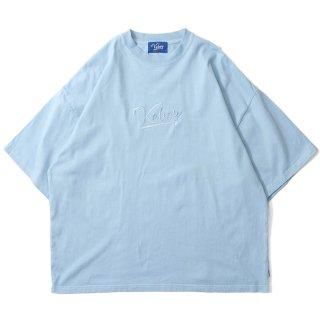 KEBOZ LOGO GARMENT DYED S/S TEE SKY BLUE