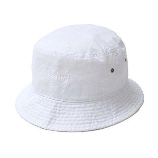 KEBOZ BB LOGO BACKET HAT WHITE