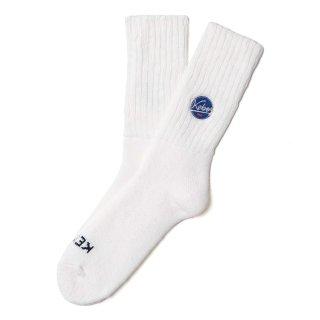 KEBOZ SHORT LOOSE GAUGE SOCKS WHITE