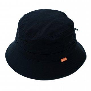 KEBOZ NYLON BACKET HAT BLACK