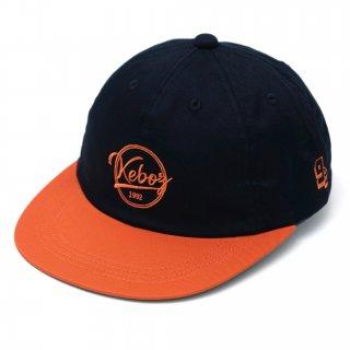 KEBOZ COTTON TWILL CAP BLACK/ORANGE