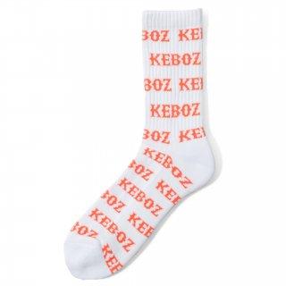 KEBOZ MF LOGO SOCKS WHITE/ORANGE