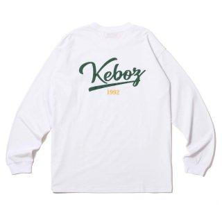 KEBOZ ICON LOGO L/S TEE WHITE