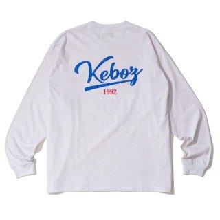 KEBOZ ICON LOGO L/S TEE ASH GREY