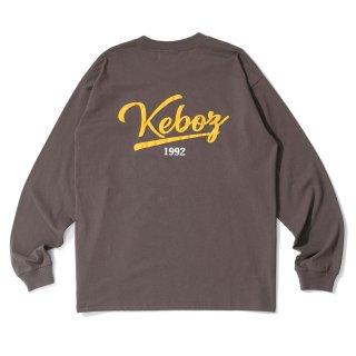 KEBOZ ICON LOGO L/S TEE DARK GREY