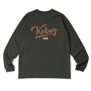 KEBOZ ICON LOGO L/S TEE FOREST GREEN