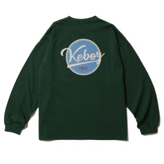 KEBOZ BB LOGO HEAVY WEIGHT KBIG L/S FOREST GREEN