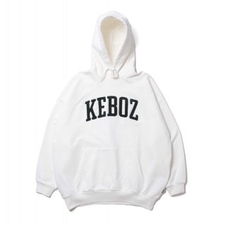 KEBOZ UC CHENILLE SWEAT PULLOVER WHITE
