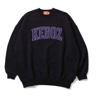 KEBOZ UC CHENILLE SWEAT CREWNECK BLACK