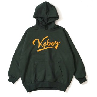 KEBOZ ICON LOGO FELT SWEAT PULLOVER FOREST GREEN