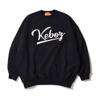 KEBOZ ICON LOGO FELT SWEAT CREWNECK BLACK