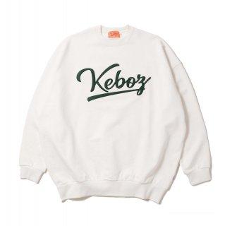 KEBOZ ICON LOGO FELT SWEAT CREWNECK WHITE