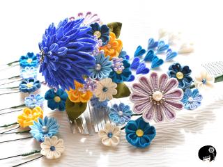 青の簪セット<br>オーダー価格