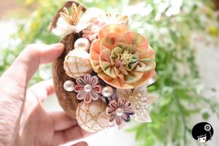 ブッタナッツの髪飾りの詰め合わせ つまみ細工 <br>16500円(税込)