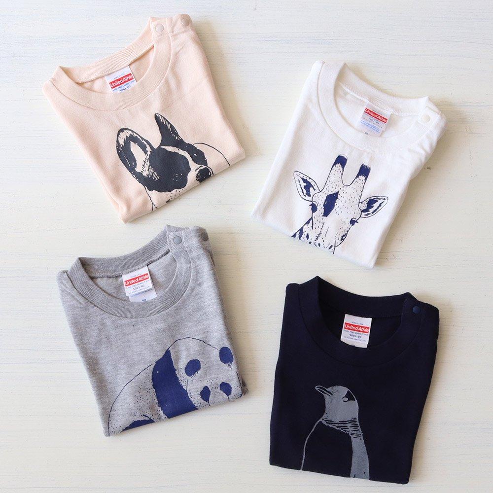【50%OFFセール】ameno store(アメノストア)<br> アニマル半袖Tシャツ
