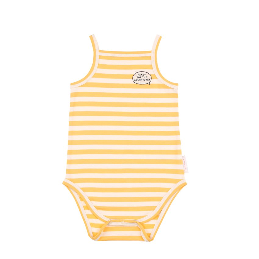 【40%OFFセール】tinycottons(タイニーコットンズ)2019SS <br>'ADVENTURE'  STRIPES SL BODY<BR>キャミロンパース