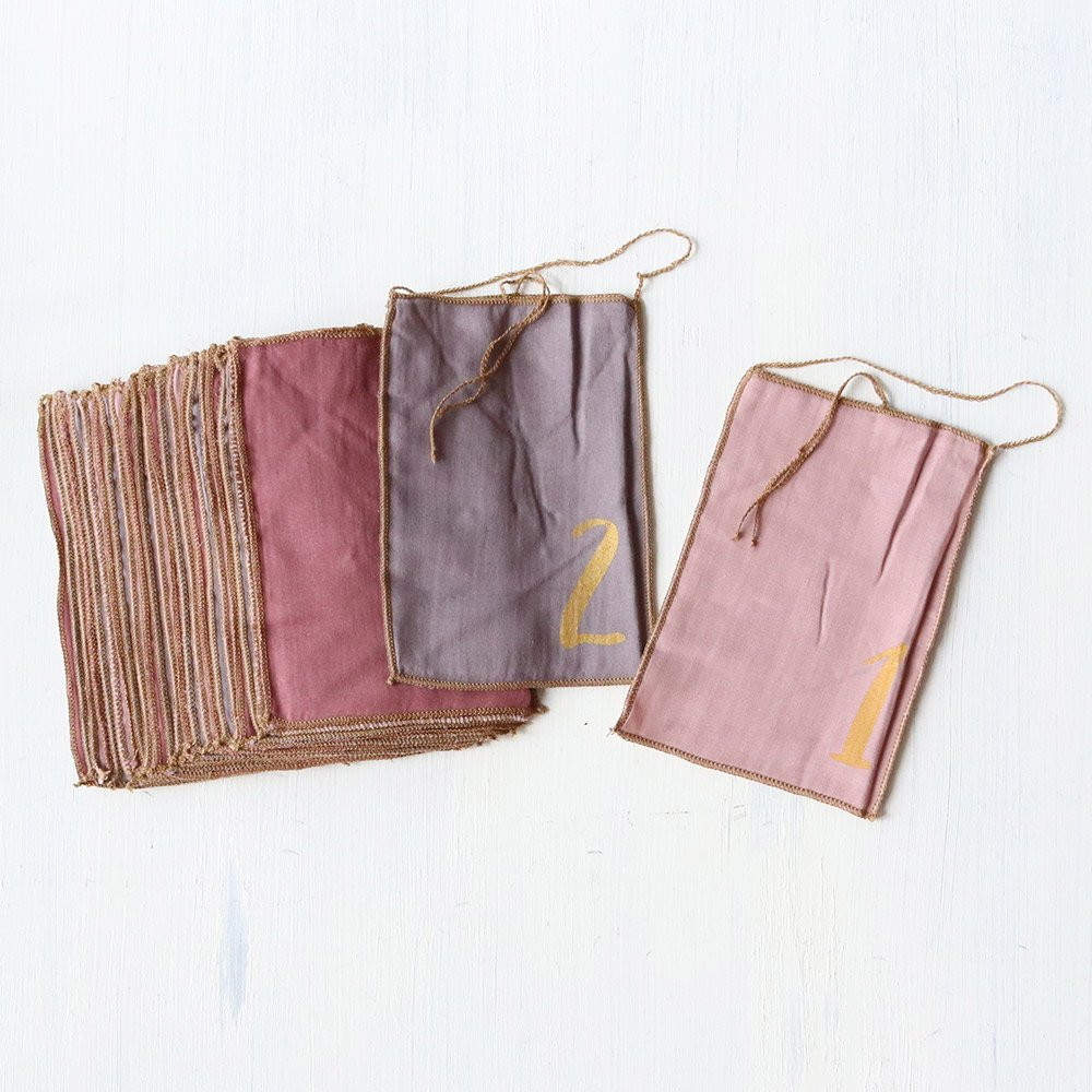 numero74(ヌメロ74)<br>ADVENT CALENDER GIFT BAGS mix pink<BR>アドベントカレンダーギフトバッグセット