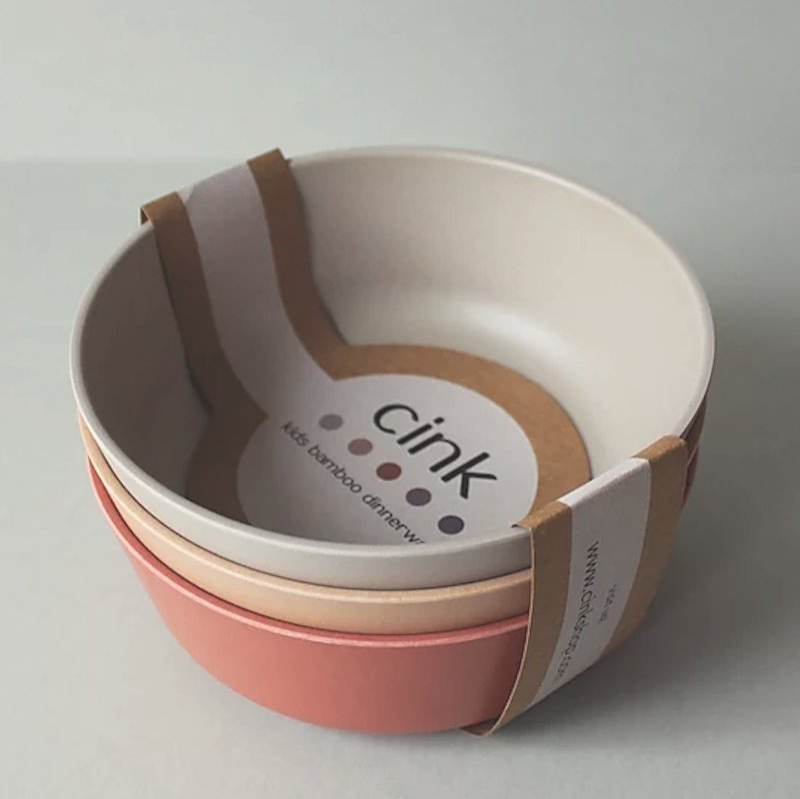 cink(サンク)<br>デンマークのbambooベビー・キッズ食器<BR> バンブーボウル3個セット