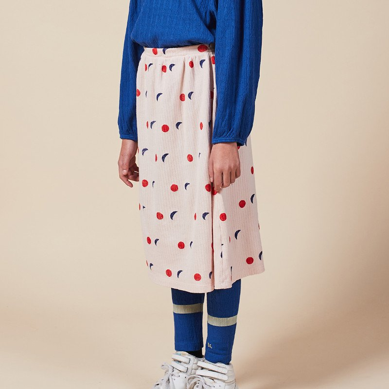 【30%OFFセール】bobo choses(ボボショセス,ボボショーズ)2020AW <BR> Night All Over Skirt<BR>キッズフレアスカート