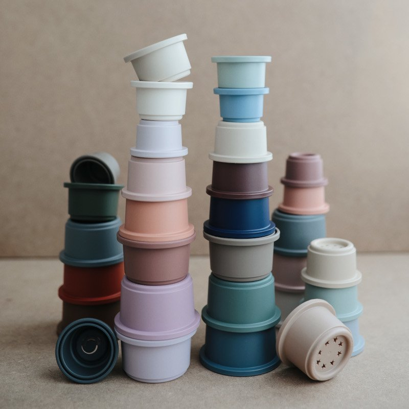 mushie(ムシエ)<BR>Stacking Cups(スタッキングカップ)<BR>original、retro、petal、forest
