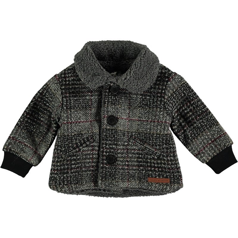 【30%OFFセール】tocoto vintage(トコト ヴィンテージ)2020AW <br>Oversize plaid baby coat<BR>ボア襟ベビーコート