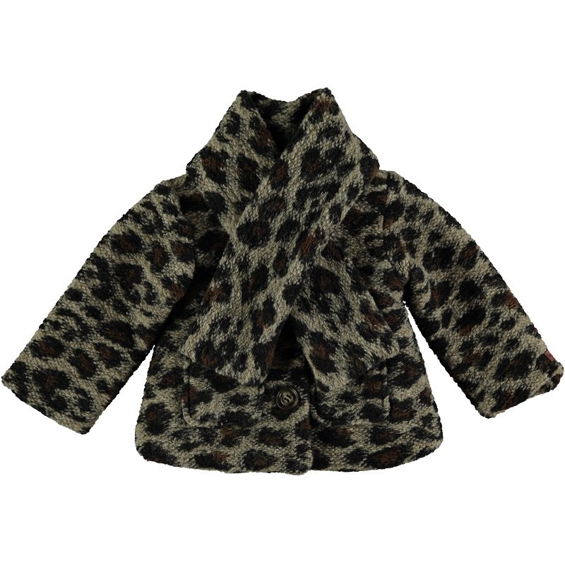【30%OFFセール】tocoto vintage(トコト ヴィンテージ)2020AW <br>Animal print baby coat<BR>アニマル柄裏地付きベビーコート