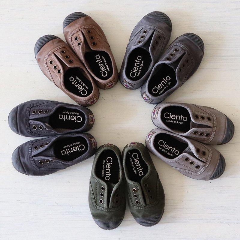 Cienta(シエンタ)<br>キッズ ムラ染めデッキシューズ 靴<br>スニーカー 955-777